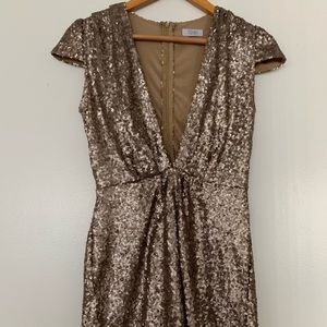 Other - Gold Sequin Romper size small